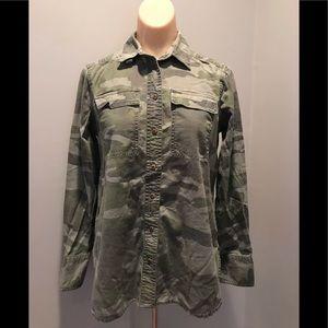 J.CREW Button Camo Shirt